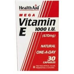 HEALTH AID VITAMIN E 1000iu 30CAPSULES