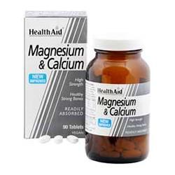 HEALTH AID MAGNESIUM&CALCIUM 90TABLETS