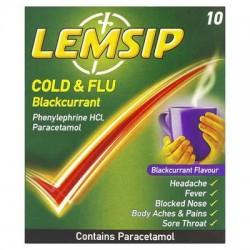 LEMSIP COLD/FLU BLACKCURRANT 10 SACH