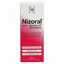 NIZORAL S/POO 20MG/ML 60ML anti-dandruff shampoo  20mg/ml