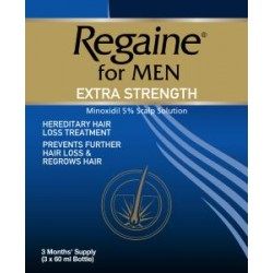 Regaine topical solution 5% extra strength for men 60ml 3 pack