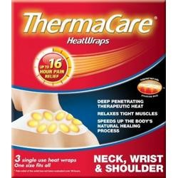THERMACARE HEAT WRAP 3 neck, shoulder & wrist