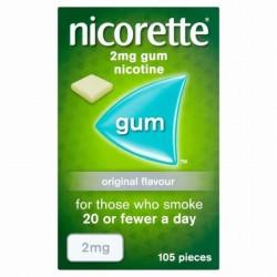NICORETTE CHEW GUM 2MG 105 original  2mg