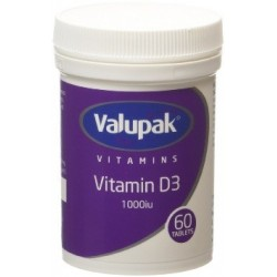 VALUPAK VIT D3 1000 IU