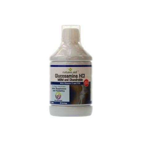 NATURES AID GLUCOSAMINE HCI LIQUID 500ML