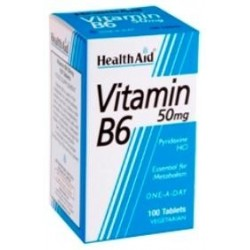 HEALTH AID VITAMIN B6 50MG 100TABLETS