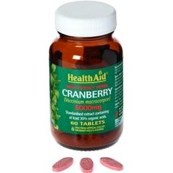 HEALTH AID CRANBERRY 60TABLETS