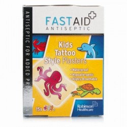 FASTAID KIDS TATTOO 15 PLASTERS