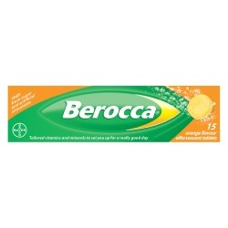 BEROCCA 15 ORANGE FLAVOUR TABLETS