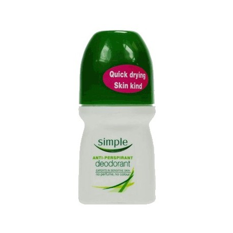 SIMPLE ANTI-PERS ROLL-ON 50ML antiperspirant roll-on