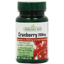 NATURES AID CRANBERRY 200MG 30 TABLETS