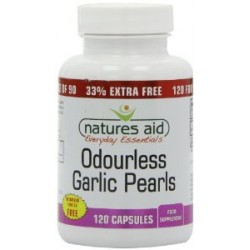 NATURES AID ODOURLESS GARLIC PEARLS 120CAPS