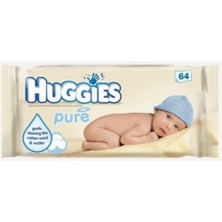 HUGGIES BABY WIPES PURE 64
