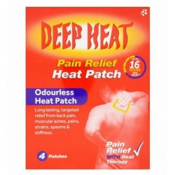 DEEP HEAT PATCH X4 pain relief heat patch