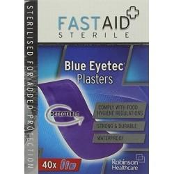 FAST AID BLUE EYETEC 40 PLASTERS