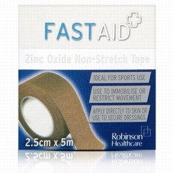 FASTAID ZINC OXIDE 2.5X5M TAPE
