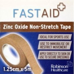 FASTAID ZINC OXIDE TAPE 1.25CMX5