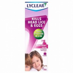 LYCLEAR HEAD LICE AND EGGS spray+comb 100ml
