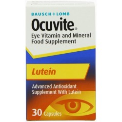 OCUVITE LUTEIN EYE VITAMIN AND MINERAL FOOD SUPPLEMENT 30 CAPS