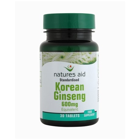 NATURES AID KOREAN GINSENG 30 600mg