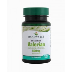 NATURES AID VALERIAN 500MG 30 valerian 500mg