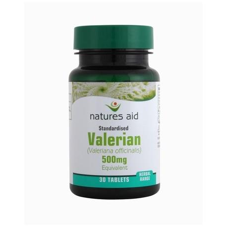 NATURES AID VALERIAN 500MG 30 valerian 500mg