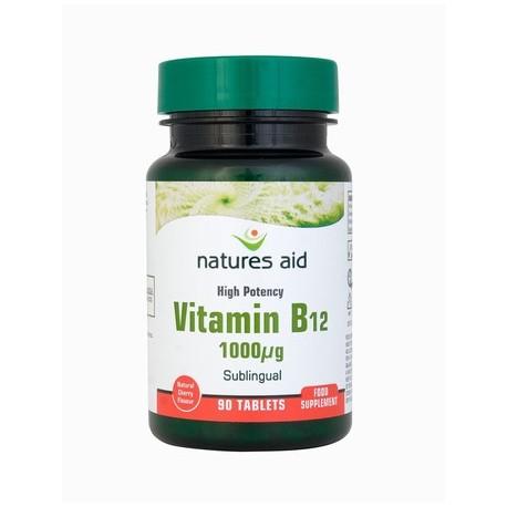NATURES AID VITAMIN B12 1000g - Crown Pharmacy Gibraltar