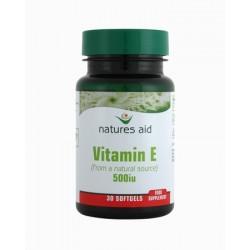 NATURES AID VIT E CPS 500IU 30 capsules 500iu