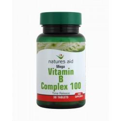 Natures Aid Vitamin B Complex 100 30tablets