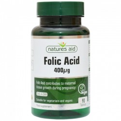 NATURES AID FOLIC ACID 400iu 90TABLETS