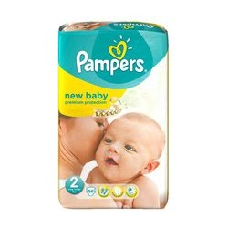 PAMPERS No. 2 mini b/dry disposable nappies 45s