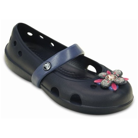 db4d8cb0d CROCS KEELEY SPRINGTIME FLAT PS NVY BJBL C5 - Crown Pharmacy Gibraltar